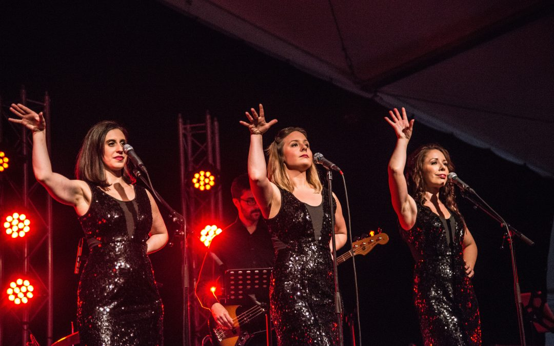 (2015) As one out of three ladies in Divine Divas Trio Kim is performing at Landskronakarnevalen.